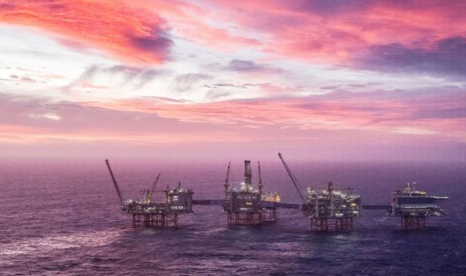 Вид на нефтяное месторождение Йохана Свердрупа в Северном море, 7 января 2020 г. Карина Йохансен / NTB Scanpix / через REUTERS
